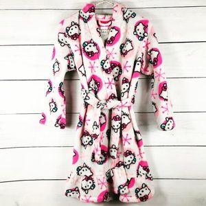 HELLO KITTY | Kids Robe Plush Hooded Velvet-853